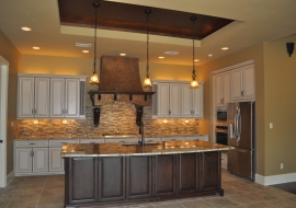 14 Kitchen with Step Ceiling over Island